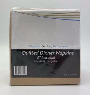 DELUXE DINNER QUILTED GT FOLD BROWN KRAFT NAPKIN - 1000 - CTN