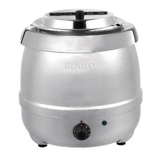 APURO SOUP KETTLE - STAINLESS STEEL - 10L CAPACITY - L714-A - EACH