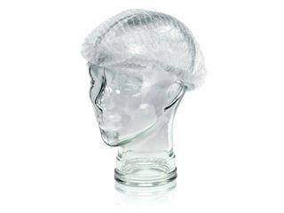 """MEDICOM PP CLIP CAP / BERET 21"""" - WHITE ( MED008044W ) - 100 - PKT"""