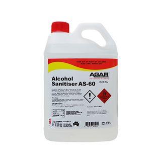 AGAR ALCOHOL SANITISER AS-60 - RTU NO RINSE SANITISER - 5L