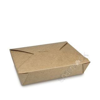 SHAMROCK BROWN KRAFT MEDIUM FOOD BOX 195x140x50mm ( PAIL PAK ) - 200 - CTN