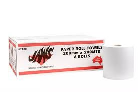 ROYAL TOUCH JAWS AUTOCUT (MIDI-200mm) - 2PLY -200MTR HAND TOWEL - (66030-2PLY) - 200M X 6 ROLLS - CTN