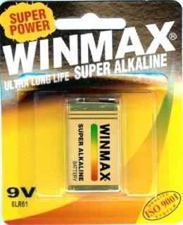 WINMAX ALKALINE 9 VOLT BATTERY - 1 - PKT