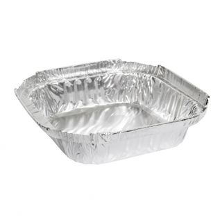 MARINUCCI FOIL 270ML SQUARE SHALLOW TRAY ( 18-MSQ403 ) - 110 - SLV