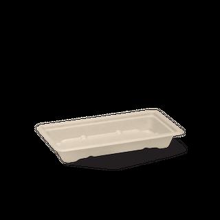 BIOPAK SMALL BIOCANE Sushi Tray - 167X91X24mm - natural - 100 - ( B-ST-SMALL ) - SLV