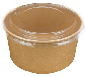PINNACLE SMALL 150MM PET CLEAR LID TO SUIT SMALL, MEDIUM & LARGE KRAFT FOOD SUPA BOWL ( FCLIDS ) - 400 - CTN