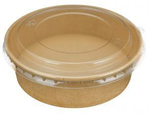 PINNACLE LARGE 184MM PET CLEAR LID TO SUIT EXTRA LARGE 1300ML FOOD SUPA BOWL ( FCLIDL ) - 200 - CTN