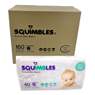 SQUIMBLES NAPPIES - SIZE 2 - SMALL - (SQS160) -160 -