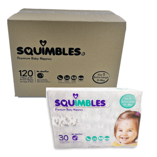 SQUIMBLES NAPPIES - SIZE 5 - EX-LARGE - (SQXL120) - 120 - CTN