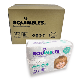 SQUIMBLES NAPPIES - SIZE 6 - XX LARGE - (SQXXL112) - 112 - CTN