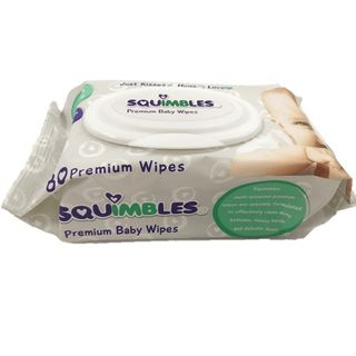 SQUIMBLES PREMIUM BABY WIPES - 80 - PKT