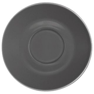 OLYMPIA CAFE SAUCER 158MM DIA - CHARCOAL ( GL049 ) - 12 - CARTON