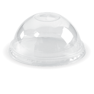 BIOPAK 300 - 700ml cup dome LID with X slot - clear - 1000 - ( C-96D(X) ) - CTN ( 100 / SLV )