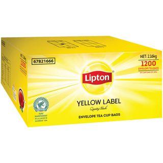 LIPTON YELLOW LABEL QUALITY BLACK ENVELOPED TEA BAGS (12 X 100 ) - 1200 - CTN