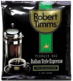 ROBERT TIMMS ITALIAN ESPRESSO PLUNGER BAGS 50'S - CTN ( 50 BAGS / CARTON )