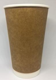 CUSTOM BIO-KRAFT  DBL WALL COFFEE CUP -16oz - 25 - SLV