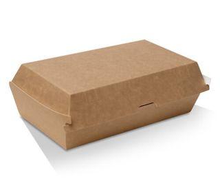 GREENMARK BROWN & WHITE CARDBOARD SNACK BOX REGULAR 176X91X85MM ( KB6 ) - 100 / SLV