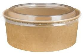 ALFRESCO SMALL KRAFT FOOD BOWL 150MM PET CLEAR LID - (KFBLID-S) - 400 -CTN ( SUPA BOWL )