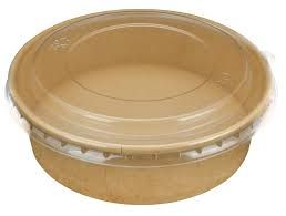ALFRESCO LARGE KRAFT FOOD BOWL 184MM PET CLEAR LID (KFBLID-XL) - 50 - SLV ( SUPA BOWL )