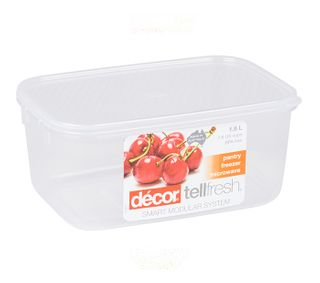 DECOR 1.8L TELLFRESH OBLONG CONTAINER - EACH