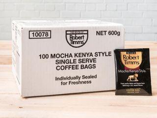 ROBERT TIMMS MOCHA KENYA COFFEE BAGS - 100 - CTN