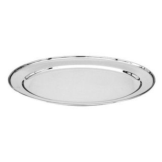 OVAL TRAY / PLATTER STAINLESS STEEL HD ROLLED EDGE 500MM - 76320 - EACH