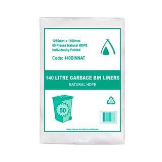 TP 140L NATURAL HDPE GARBAGE BIN LINERS - 200 - CTN