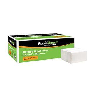 RAPID CLEAN SLIMLINE INTERLEAF HAND TOWEL - 87535 - 160 - SLV