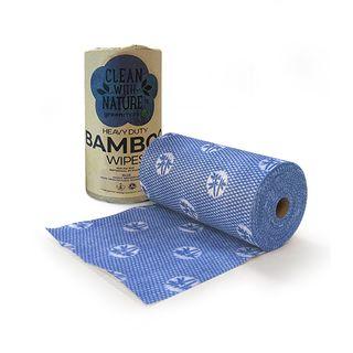 GREENMARK HEAVY DUTY BAMBOO WIPES - BLUE - 45MTR - 300 x 500MM - 90 SHEETS - 6 - CTN ( BWB )