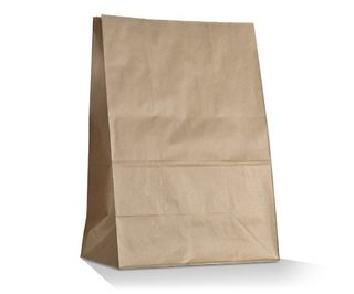 GREENMARK BROWN # 16 SOS 390  X 240 + 120MM PAPER BAG - 250  CARTON