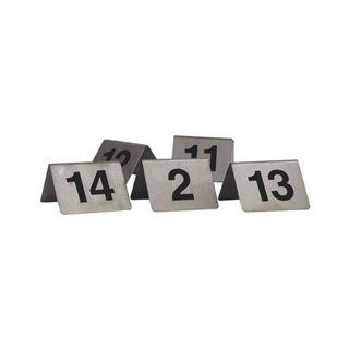 TRENTON TABLE NUMBER S/STEEL A-FRAME 50X50MM - 57810 - SET 1-10 - SET