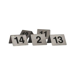 TRENTON TABLE NUMBER S/STEEL A-FRAME 50X50MM - 57830 - SET 21-30 - SET