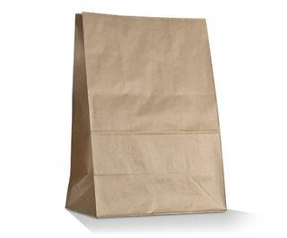 GREENMARK BROWN # 16 SOS 390  X 240 + 120MM PAPER BAG - 50  SLEEVE