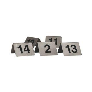 TRENTON TABLE NUMBER S/STEEL A-FRAME 50X50MM - 57860 - SET 51-60 - SET