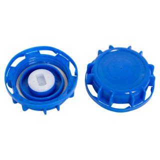 58MM LID / CAP - SKY BLUE - VENTED - EACH