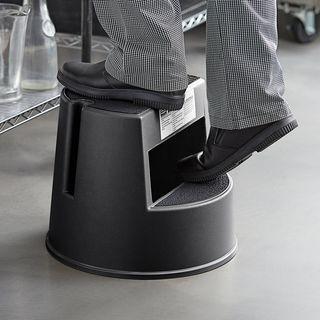 RUBBERMAID MOBILE TWO-STEP STEP STOOL ( RFG252300 BLA ) -EACH