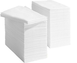 ALFRESCO DINNER AIRLAID ' LINEN FEEL ' GT FOLD WHITE NAPKIN - 50 - PKT