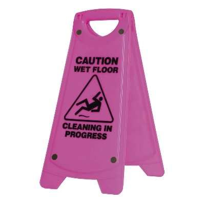 Sign Small Wet Floor Pink