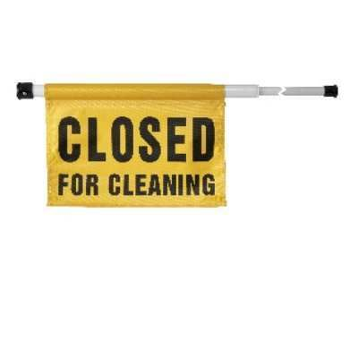 Spring Loaded Cleaning Sign