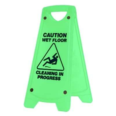 Sign Small Wet Floor Green