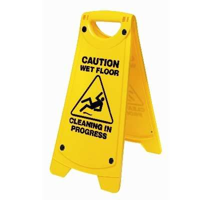 Sign Small Wet Floor Yellow