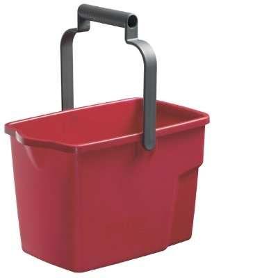Rectangle Bucket 9 lt - Red