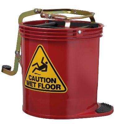 Mop Bucket Wringer - Red