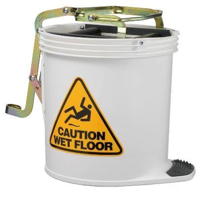 Mop Bucket Wringer - White
