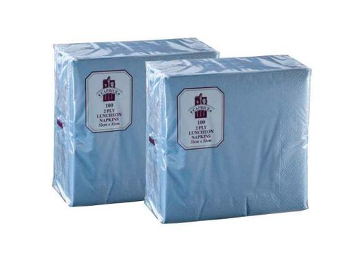 Serviettes 2 Ply Light Blue