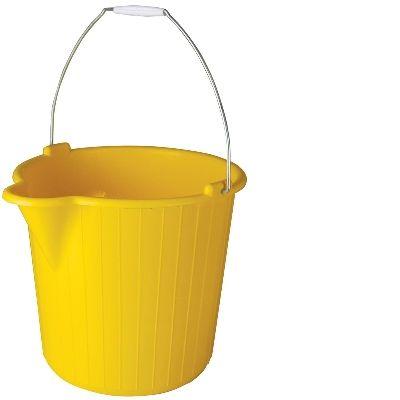 Round Bucket 12 lt - Yellow