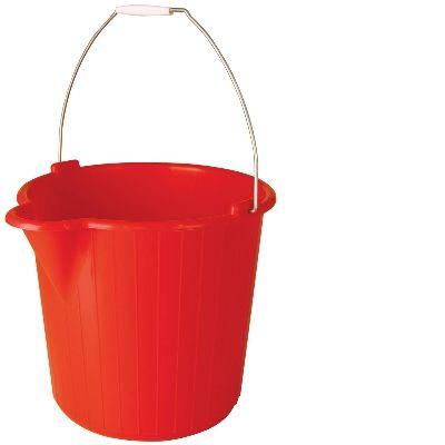Round Bucket 12 lt - Red