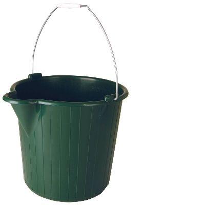 Round Bucket 12 lt - Green
