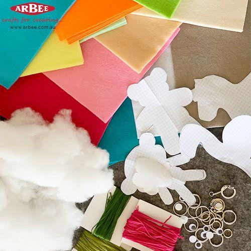 Craft pieces for handmade felt toys