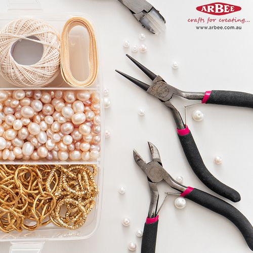 Jewellery making tools and beads